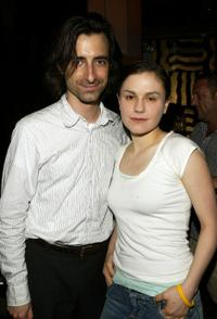 Noah Baumbach and Anna Paquin at the private reception for the cast of