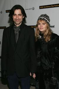Noah Baumbach and Jennifer Jason Leigh at the premiere of