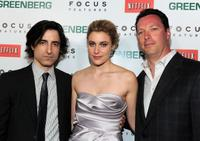 Noah Baumbach, Greta Gerwig and Andrew Karpen at the premiere of