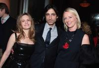 Jennifer Jason Leigh, Noah Baumbach and Linda Wells at the dinner for