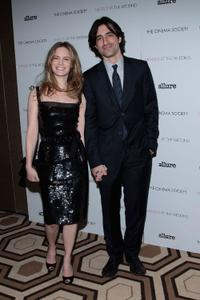 Jennifer Jason Leigh and Noah Baumbach at the screening of
