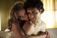 Rachel Blanchard as Rachel and Noam Jenkins as Sami in