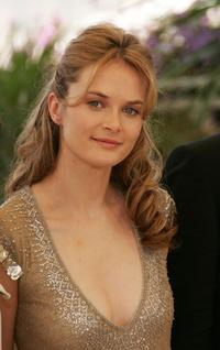 Rachel Blanchard at the photocall to promote