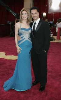 Jo Champa and Raoul Bova at the 77th Annual Academy Awards.