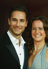 Raoul Bova and Chiara Giordano at opening night premiere of