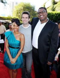 Anika Noni Rose, Bruno Campos and Michael-Leon Wooley at the premiere of
