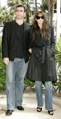 Eric Cantona and Monica Belluci at the photocall of