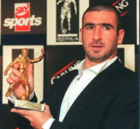 Eric Cantona at the Football Writers Association.