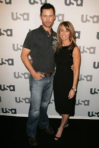 Jeffrey Donovan and Bonnie Hammer at the