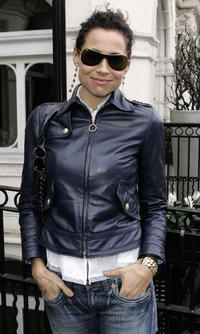 Minnie Driver at the Giles Deacon and Dima Rashid VIP designer lunch.