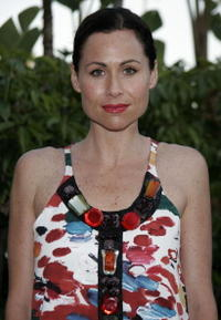 Minnie Driver at the YSL pool party.