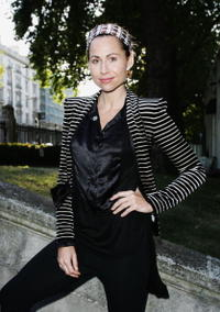 Minnie Driver at the Zandra Rhodes Fashion show.