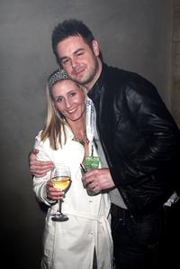 Danny Dyer and Guest at the Walkman Spring Fling Party.