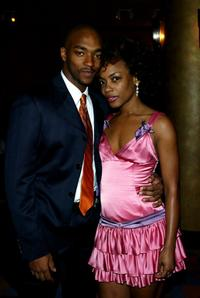 Anthony Mackie and Aunjanue Ellis at the opening night of
