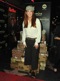 Angie Everhart at the Hard Rock Hosts