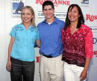 Alicia Goranson, Michael Fishman and Laurie Metcalf at the DVD launch of