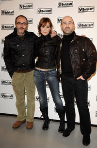 Fernando Guillen-Cuervo, Natalie Pozas and Javier Camara at the Belstaff Store opening in Madrid.