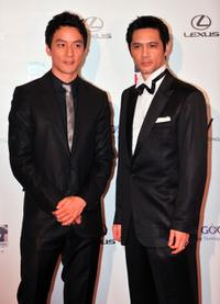 Daniel Wu and Masaya Kato at the 33rd Hong Kong International Film Festival.