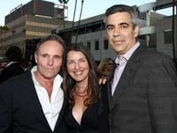 Robert Knott, Ginger Sledge and Michael London at the screening of
