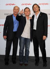 Ed Harris, Robert Knott and Viggo Mortensen at the photocall of