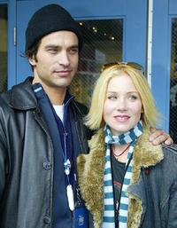 Johnathon Schaech and Christina Applegate at the 2004 Sundance Film Festival.