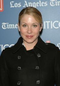 Christina Applegate at the CNN, LA Times, POLITICO Democratic Debate at the Kodak Theatre.