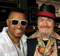 Davell Crawford and Dr. John at the 2010 New Orleans Jazz and Heritage Festival.