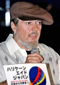 Dr. John at the press conference for the Hurrican Aid Japan in Tokyo.