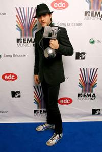 Jared Leto at the MTV Europe Music Awards 2007.