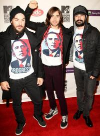 Shannon Leto, Jared Leto and Tomo Milisevic at the MTV Europe Music Awards.
