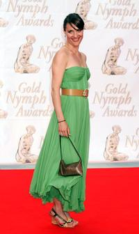Alexandra London at the Gold Nymph awards ceremony during the 44th Monte-Carlo Television Festival.
