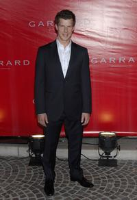 Eric Mabius at the opening of Garrard flagship store.