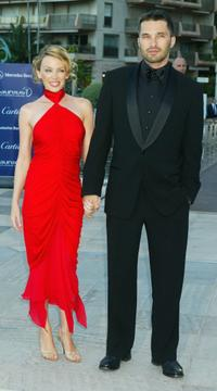 Kylie Minogue and Olivier Martinez at the Laureus World Sports Awards.
