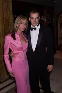Natalie Appleton and Jonny Lee Miller at the BAFTA Awards after party.