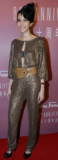 Karen Mok at the Salvatore Ferragamo 80th Anniversary party.