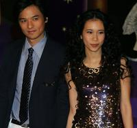 Stephen Fung and Karen Mok at the 25th Hong Kong Film Awards.