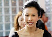 Karen Mok at the products promotion in Beijing.