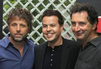 Stephane Guillon, Nicolas Demorand and Francois Morel at the announcement of the 2009/2010 programs of public media group Radio France.