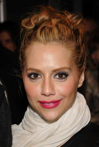 Brittany Murphy at the Matthew Williamson Fall 2008 fashion show during the Mercedes-Benz Fashion Week.
