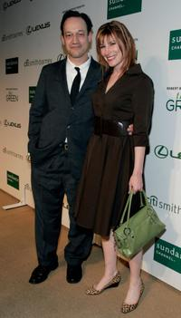 Ted Raimi and Suzanne Keilly at the Sundance Channel's launch of Robert Redford's