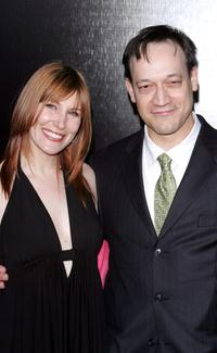 Suzanne Keilly and Ted Raimi at the premiere of