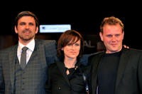 Sebastian Schipper, Sophie Rois and David Striesow at the Italy premiere of