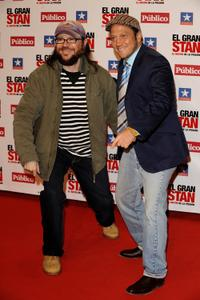 Santiago Segura and Rob Schneider at the premiere of