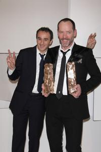 Elie Semoun and Olivier Raoux at the Cesar Film Awards 2008.