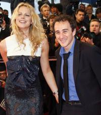 Elie Semoun and guest at the screening of