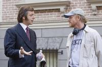 Michael Sheen and Director/Producer Ron Howard on the set of