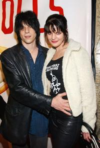 Pauley Perrette and Coyote Shivers at the premiere of