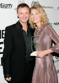 John Simm and Rosamund Pike at the British Independent Film Awards.