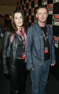 John Simm and his girlfriend at the NME Music Awards.