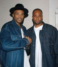 Darryl McDaniels and Chris Spencer at the Honoring The Pioneers Of Hip Hop.